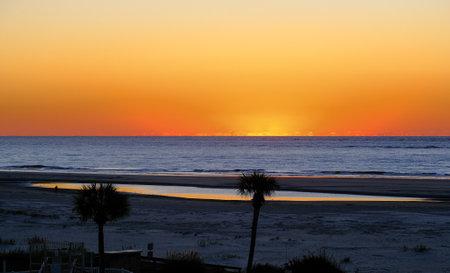 Orange Sky at Dawn Фото со стока