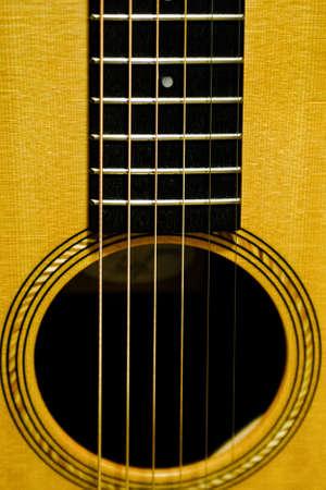 Six Strings Over Sound Hole Фото со стока