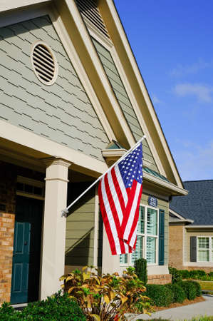 American Flag on New Townhouse