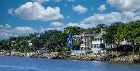 Construction at Coastal Rental Home Редакционное