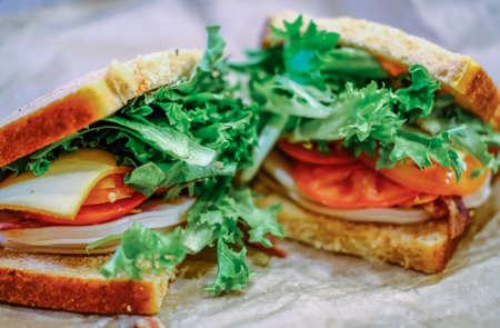 Ham and Cheese Sandwich Фото со стока
