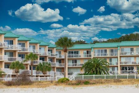 Palm Trees at Coastal Condo Редакционное