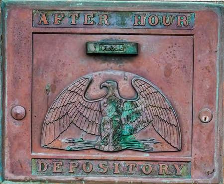 Old NIght Deposit Door Редакционное