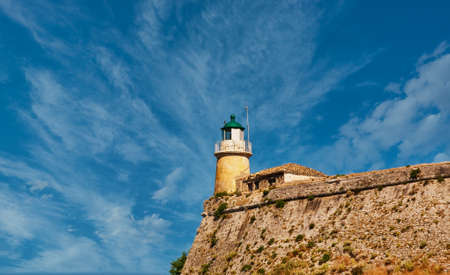 Lighthouse on Greek Fortress