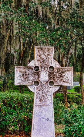 Old Celtic Cross in Cemetery