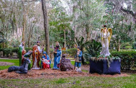 Nativity Scene in Church Yard