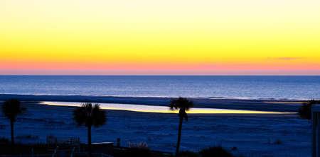 Yellow Sky at Beach