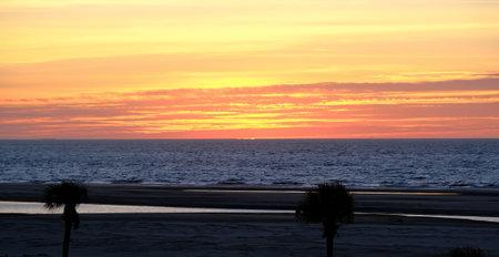 Sunrise Beyond Palme Trees