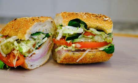 Ham and Turkey Sub Sandwich