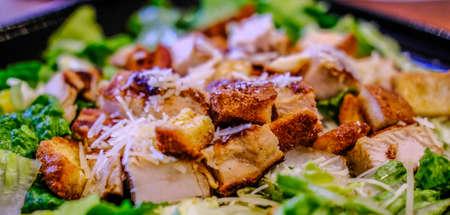 Crispy Croutons on Chicken Caesar
