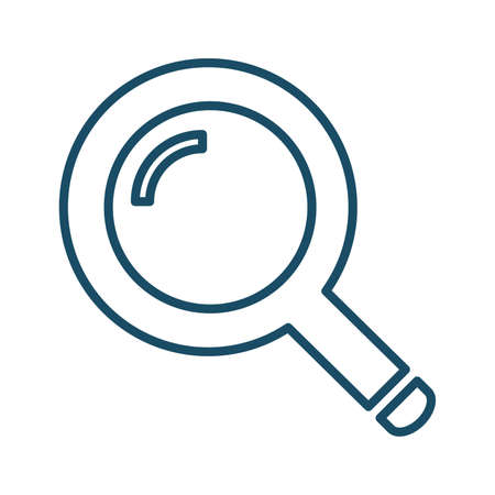 High quality dark blue outlined magnifying glass, search bar icon. Pictogram, icon set, bundle. Useful for web site, banner, greeting cards, apps and social media posts. Banco de Imagens