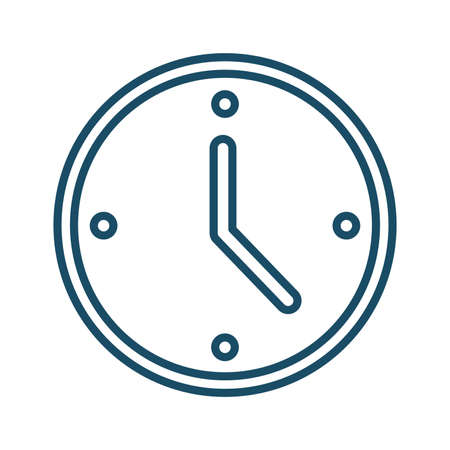 High quality dark blue outlined watch, clock, time icon on white background. Pictogram, technology, object. Useful for web site, banner, greeting cards, apps and social media posts.