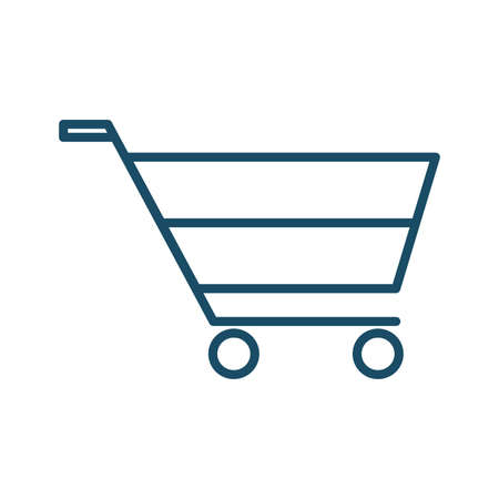 High quality dark blue flat shopping cart, basket icon. Pictogram, icon set, illustration. Useful for web site, banner, greeting cards, apps and social media posts.
