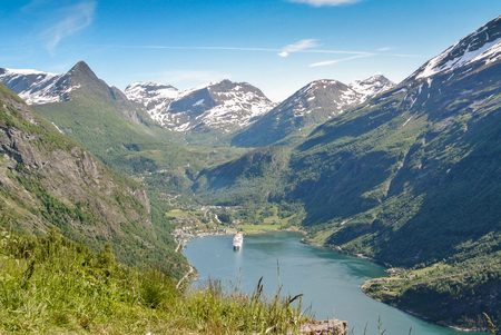 fiord: a beautiful  fiord in Norway and a cruise