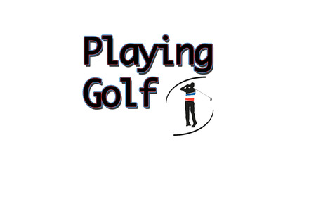 icona: an illustration wher a man is playing golf