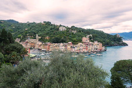 mediaval: a view of portofino, a beautiful town in italy Stock Photo