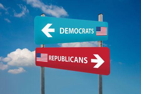 republican party: democrat and republican concepts in american election