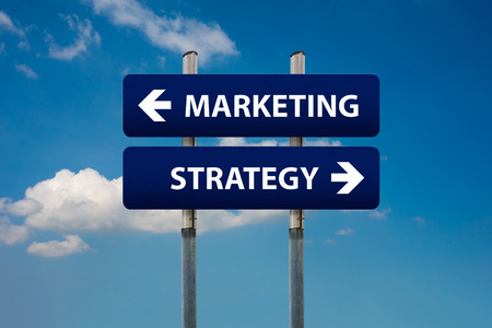 selling points: two road signs about marketing and strategy concepts