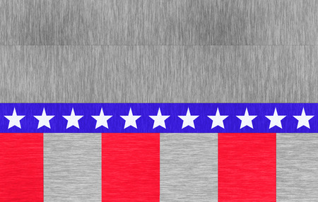 republican party: american flag on a beautiful wood texture Stock Photo