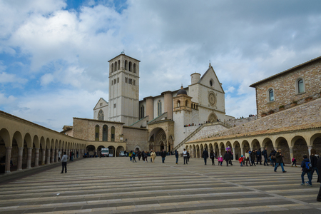 assisi: a view of assisi in umbria, italy Editorial