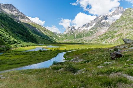 aosta: a view of veny valley at aosta italy Stock Photo