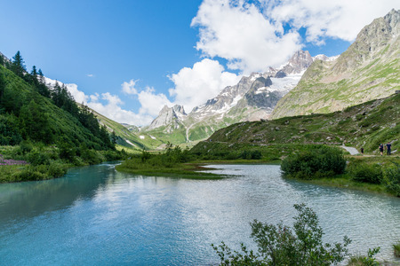 courmayeur: a view of veny valley at aosta italy Stock Photo