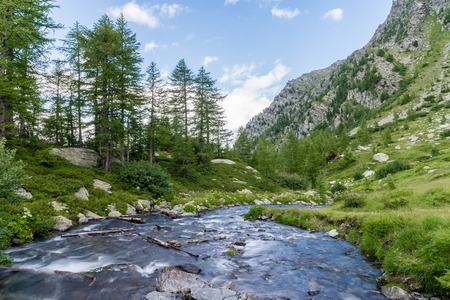 veny: a view of veny valley at aosta italy Stock Photo