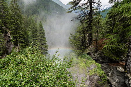 aosta: a view of rutor waterfall at aosta valley
