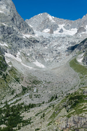 veny: a view of ferret valley at aosta italy