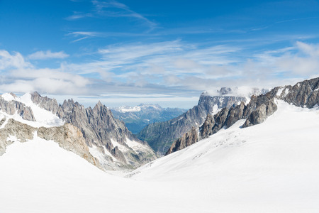 mont: a view of mont blanc, coumayeur, italy Stock Photo