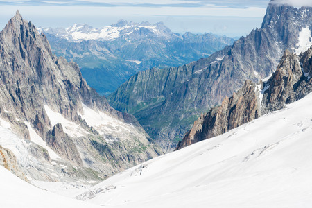veny: a view of mont blanc, coumayeur, italy Stock Photo