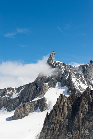 courmayeur: a view of mont blanc, coumayeur, italy Stock Photo