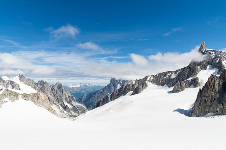a view of mont blanc, coumayeur, italy Stock Photo