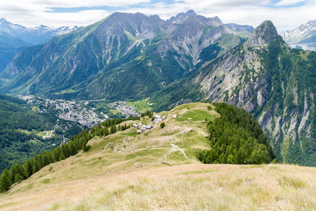 aosta: a view of ferret valley at aosta italy