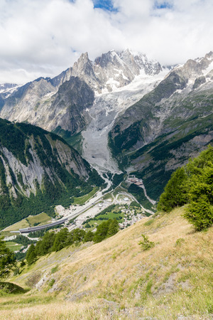 courmayeur: a view of ferret valley at aosta italy