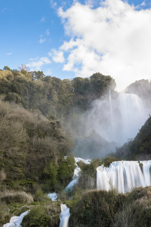 terni: a view of marmore falls in umbria, italy Stock Photo