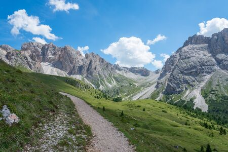 beautiful val gardena and dolomity in italy