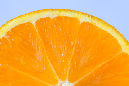a beautiful orange in a macro view