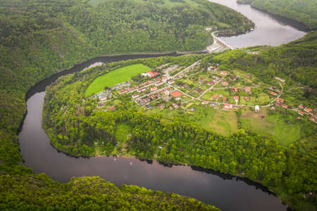 The Vltava River is 430.3 km long and drains an area of 28,090 square km in size, over and over the Czech Republics entire territory.