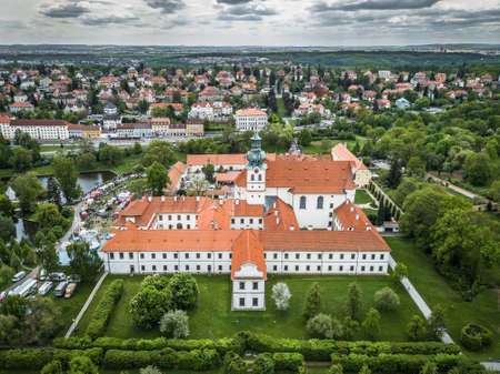 Brevnov Monastery and Benedictine Archabbey in Prague, Czech Republic. It was founded by Saint Adalbert, the second Bishop of Prague, in 993 AD with the support of Duke Boleslav II.