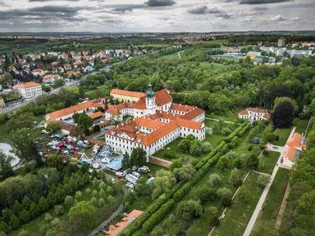 Brevnov Monastery and Benedictine Archabbey in Prague, Czech Republic. It was founded by Saint Adalbert, the second Bishop of Prague, in 993 AD with the support of Duke Boleslav II. Stok Fotoğraf - 124697963
