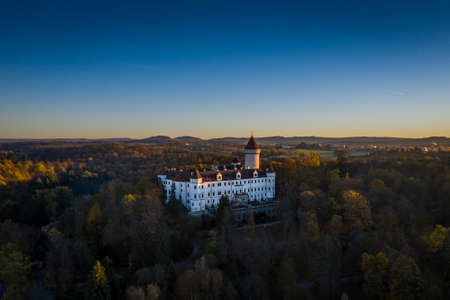 Konopiste is a four-winged, three-storey chateau located in the Czech Republic. It has become famous as the last residence of Archduke Franz Ferdinand of Austria, the Austro-Hungarian throne. Stok Fotoğraf - 124660024