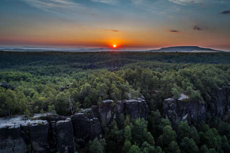 The Tisa Rocks or Tisa Walls are a well-known group of rocks in the western Bohemian Switzerland, not far from its topographical boundary with the Ore Mountain. The region, with its rock pillars. |