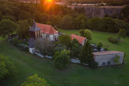 Church of st. George It is located in the area of Libusin Hillfort. Originally Gothic, later rebuilt. Single-nave building with presbytery, in which the original cross vault with ribs. Stock Photo