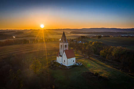 Church of St. Nicholas St. James in Chvojno dates from the 13th century. It is located on the hill above the Baroque farmyard Chvojen in the cadastral area of Benesov near Prague.