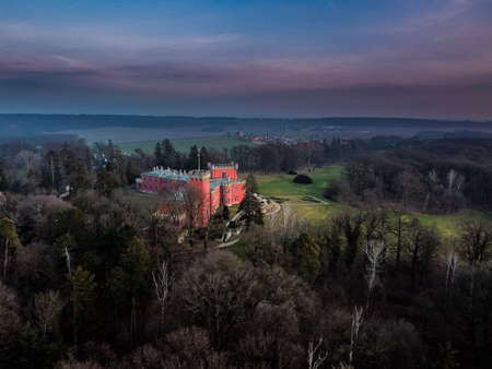 Hradek at Nechanice is a Neo-Gothic chalet building situated on a slight elevation 800 m northwest of the village center of Hradek, 2.8 km southeast of the town of Nechanice and 11 km west of Hradec.