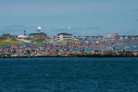 Hampton Beach can become very crowded on a busy day Editorial