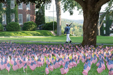Senior Cadets at Norwich University can opt to take a Vigil Tour on 911, in honor of those fallen