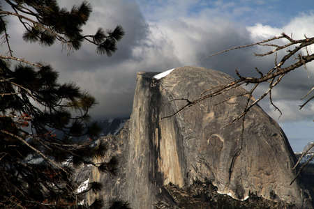 YOSEMITE VALLEY; May 30 2011, view of Half Dome from Glacier Point.