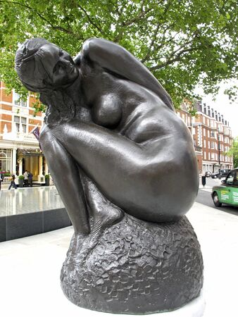 London,Mayfair UK, June 24 2011: Statue by Emilio Greco 1973 Editorial